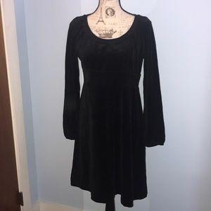 NWOT Juicy Couture Velour Black L/S Dress